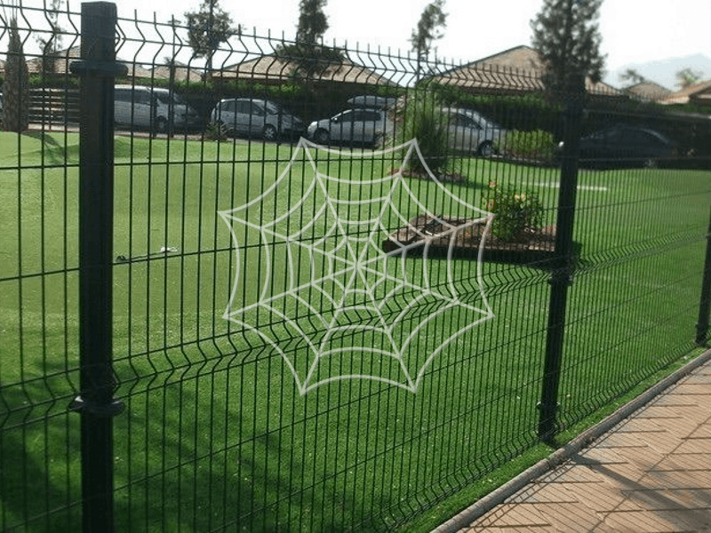 3D fence in front of cars
