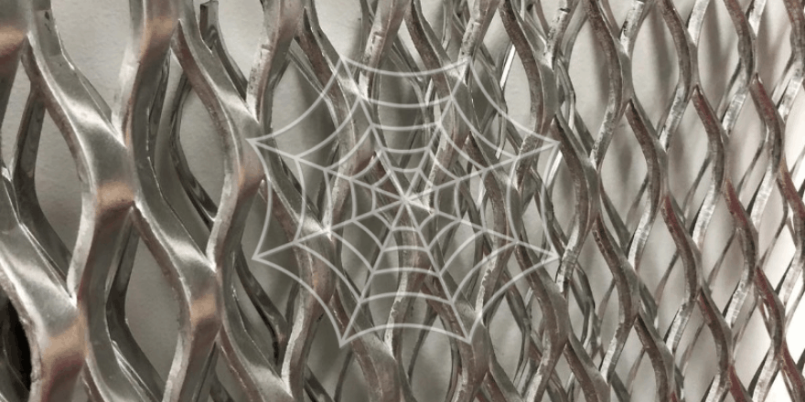 Silver expanded metal