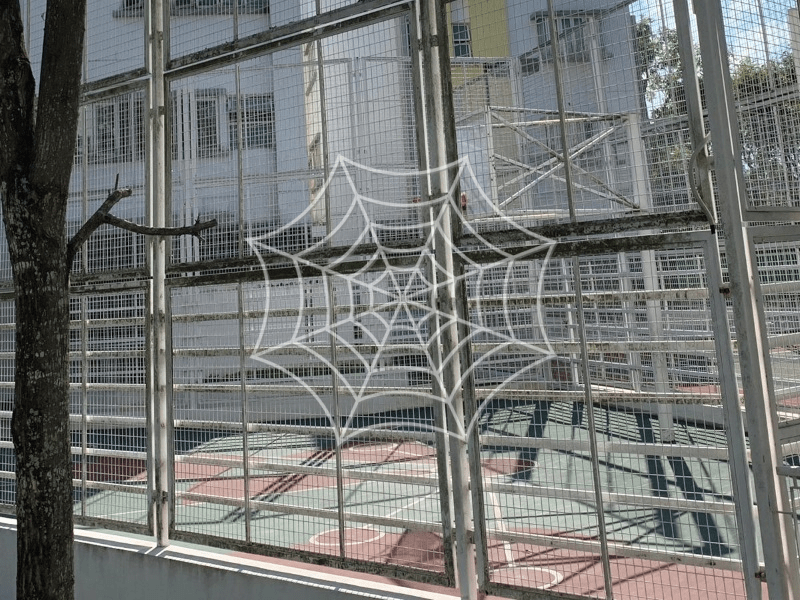 wire mesh fence basketball court for Progress Abms