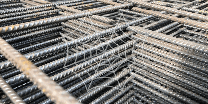 Stack of BRC wire mesh