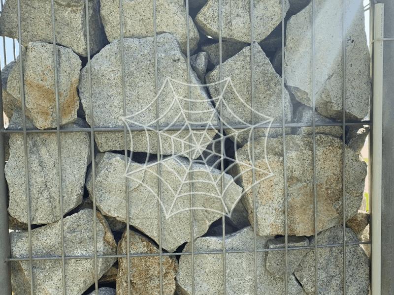 gabion wall with rocks