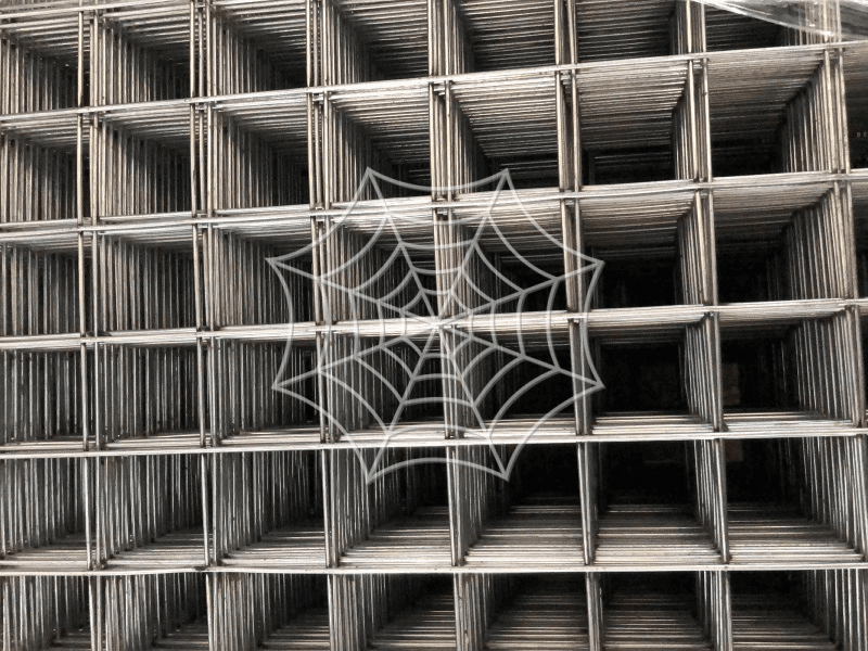 close-up of steel mesh